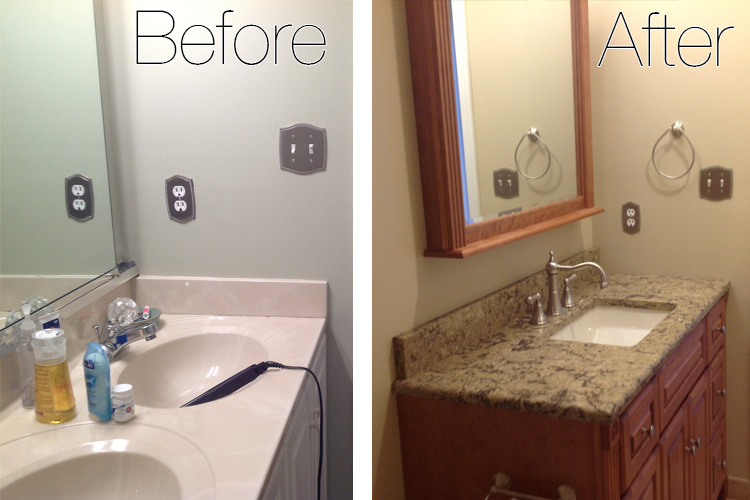 before and after bathrooms decorating. our drab and cheap old