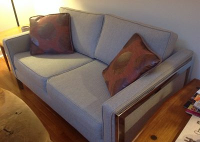 Reupholstered love seat - Retirement move project
