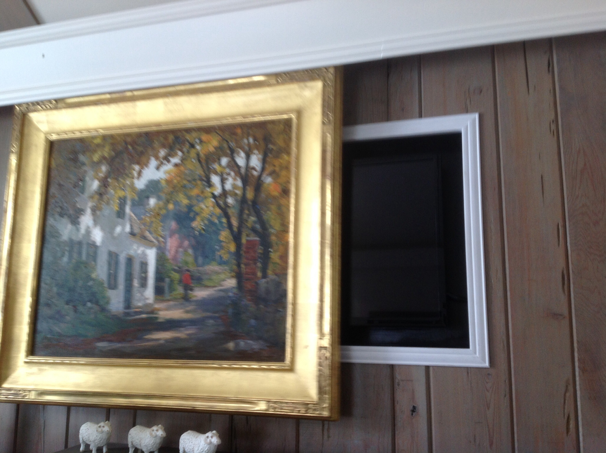 Hide Your Tv With Beautiful Artwork Interior Design Delaware